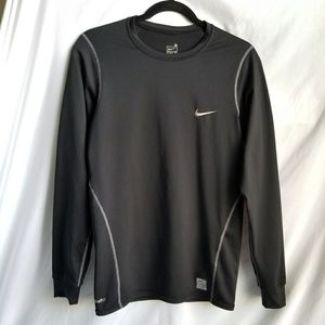 NIKE Fit Dry compression workout shirt long sleeve